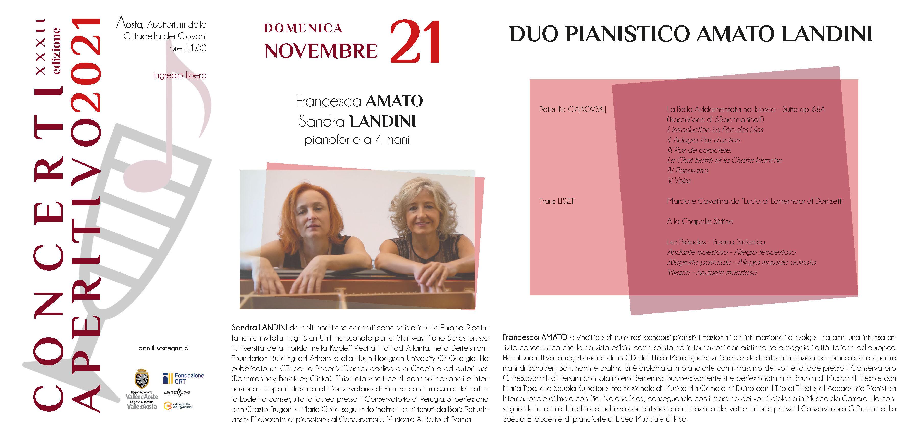 Locandina Concerti Aperitivo - Aosta inverno 2021 quarta data