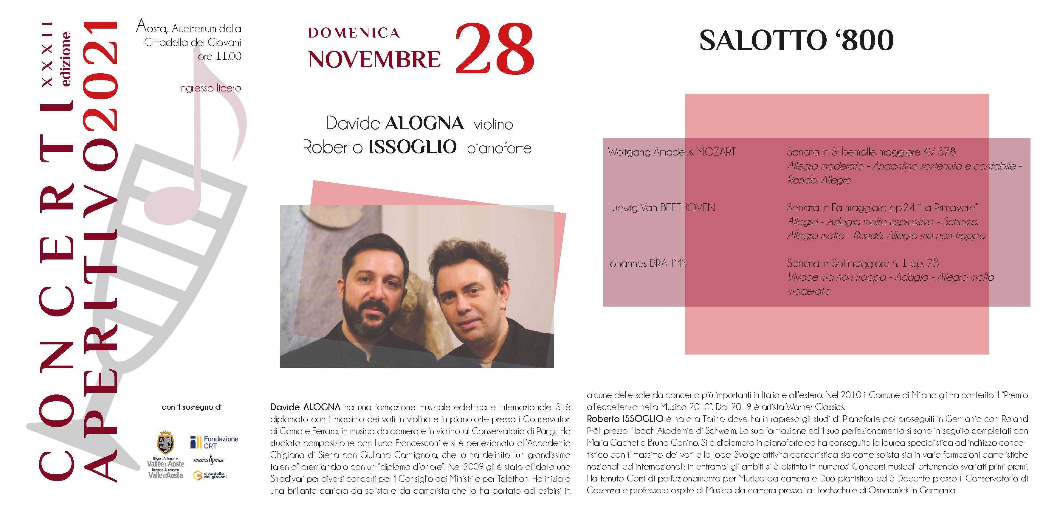 Locandina Concerti Aperitivo - Aosta inverno 2021 quinta data