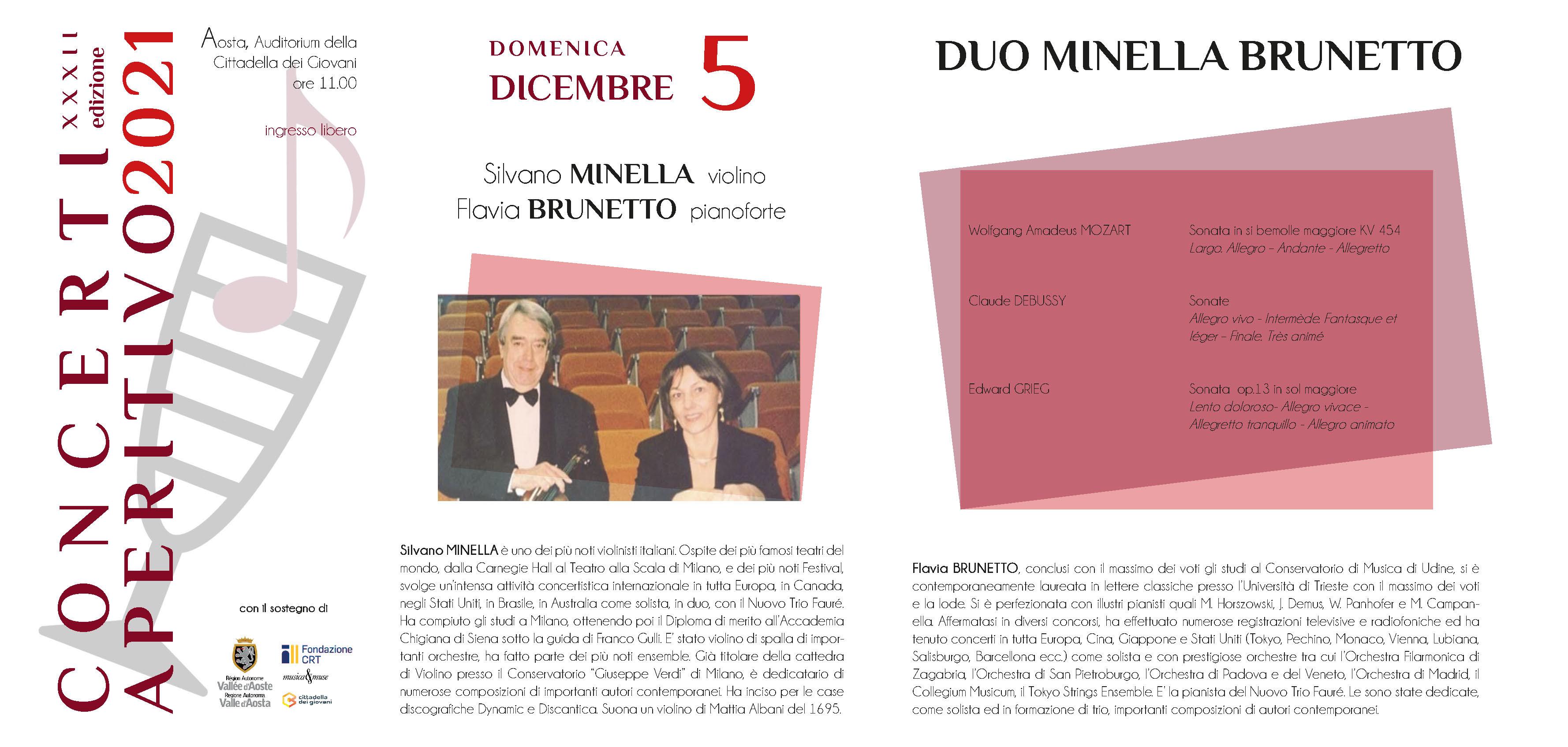 Locandina Concerti Aperitivo - Aosta inverno 2021 sesta data