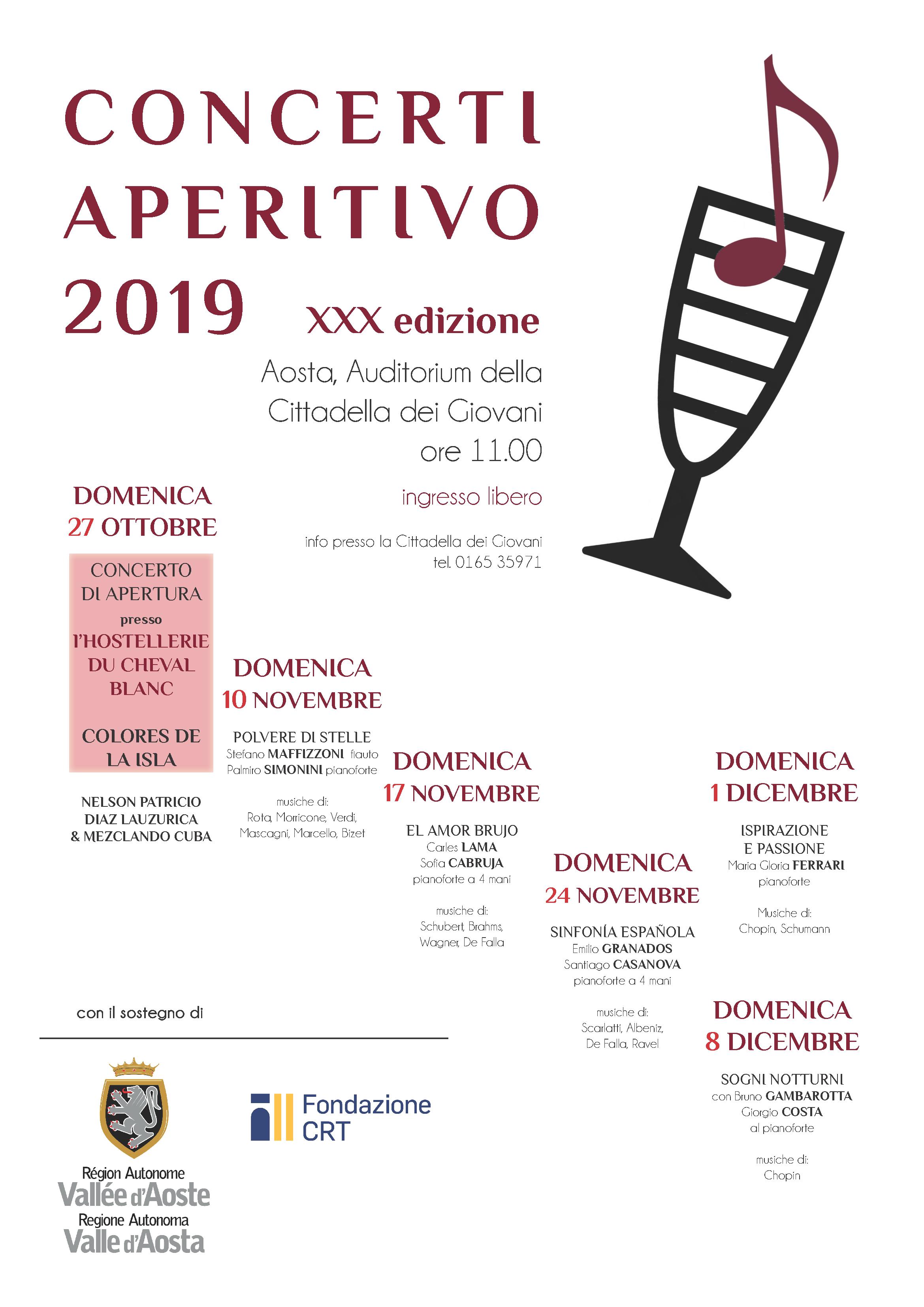 Concerto aperitivo Aosta 2019