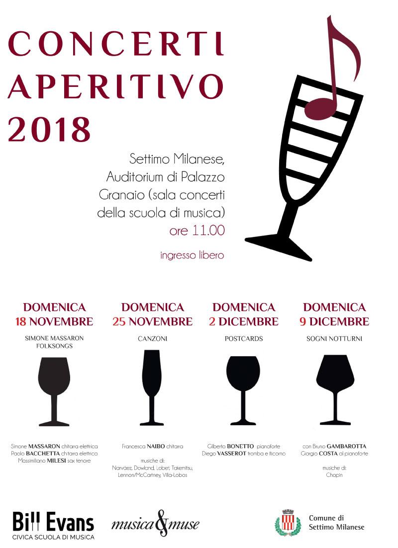 Locandina Concerti Aperitivo - Settimo Milansese 2019