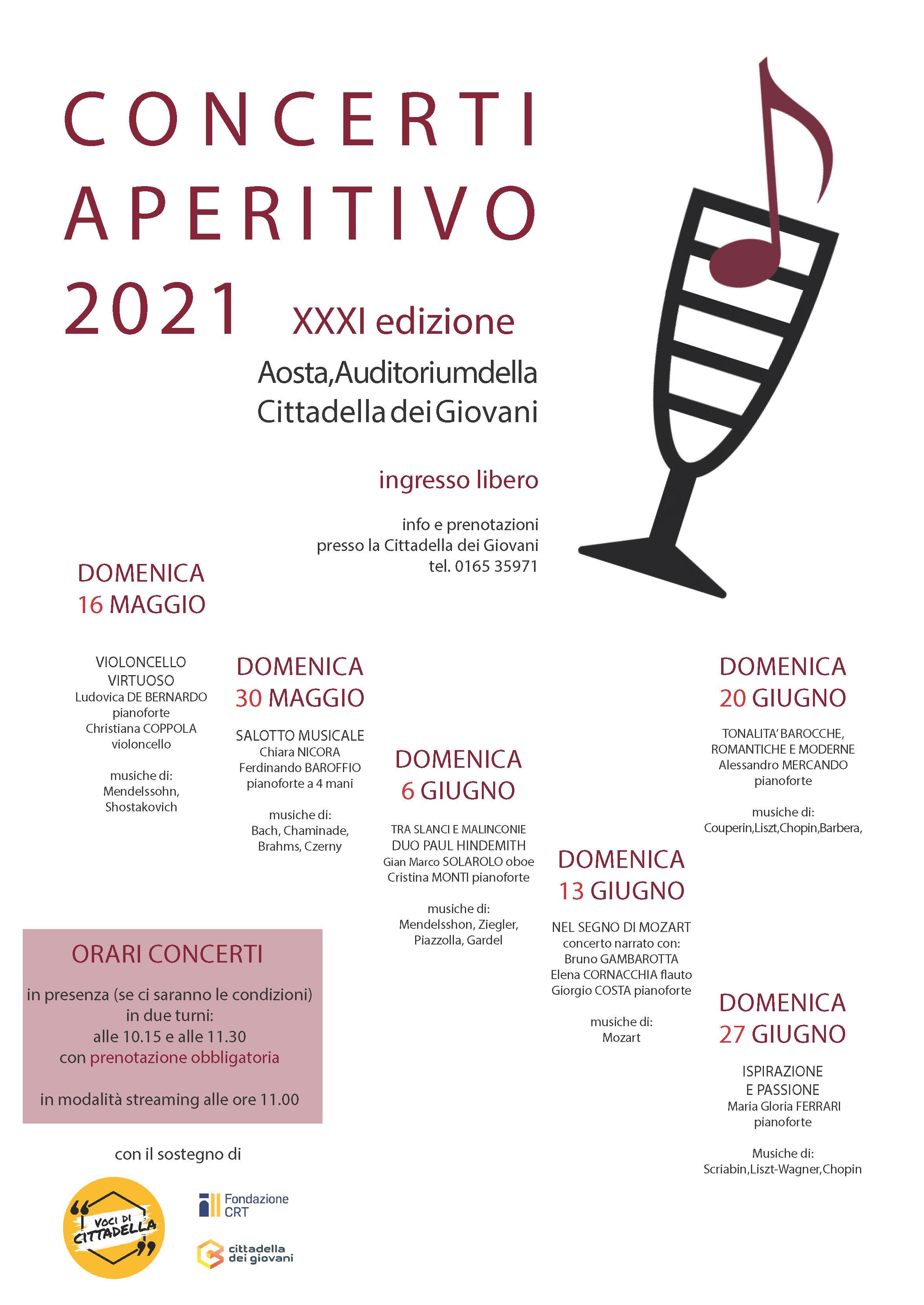 Aperitivo Aosta concerto 2021